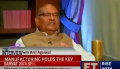 Mr Anil Agarwal – 'Mood On' for growth in Metal Sector